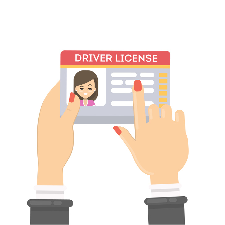 Woman's driver license.
